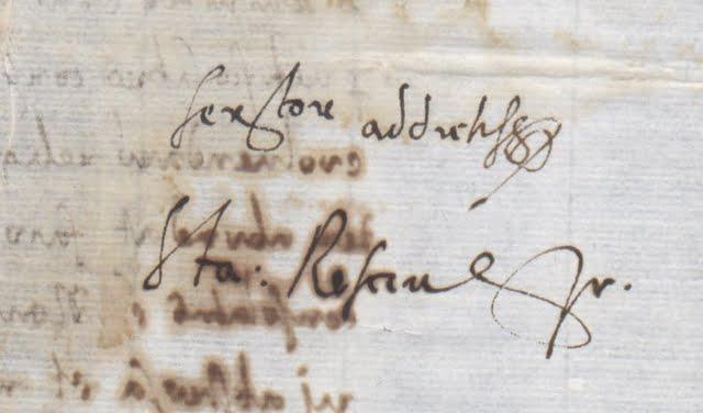 Autograf Stanisława Reszki z 1579 r.