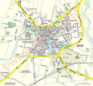 Buk - plan miasta