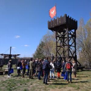 Drewniana Wieża W Grodzie Pobiedziska (fot. Piotr Basiński)