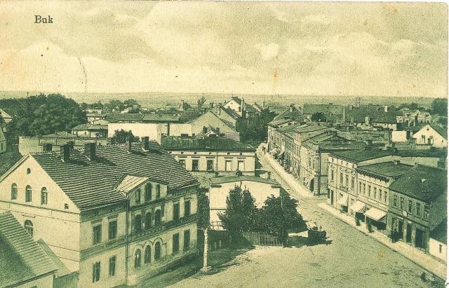Widok z wieży kościoła ewangelickiego, początek XX w.